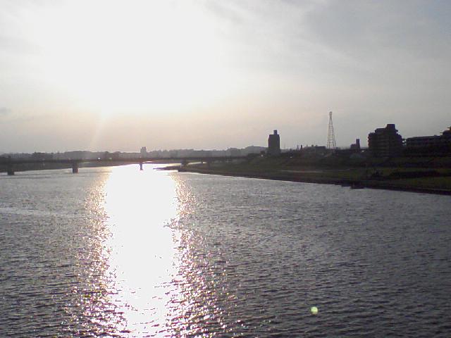 大淀川の夕陽
