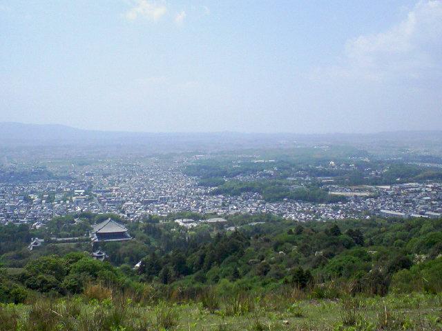 奈良若草山の展望台から