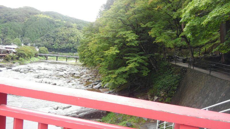 緑が映える香嵐渓