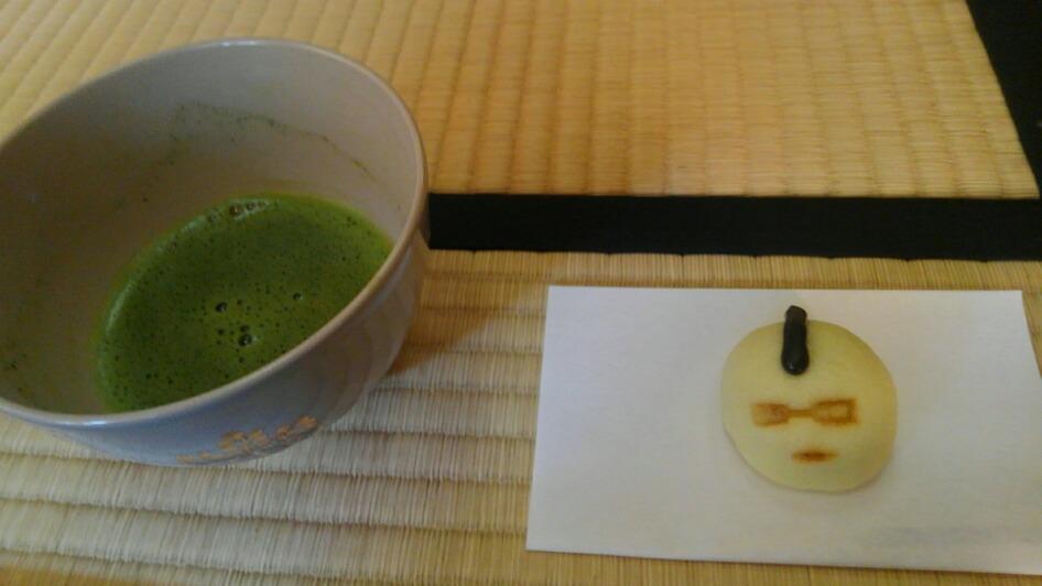 抹茶とモヒカン饅頭