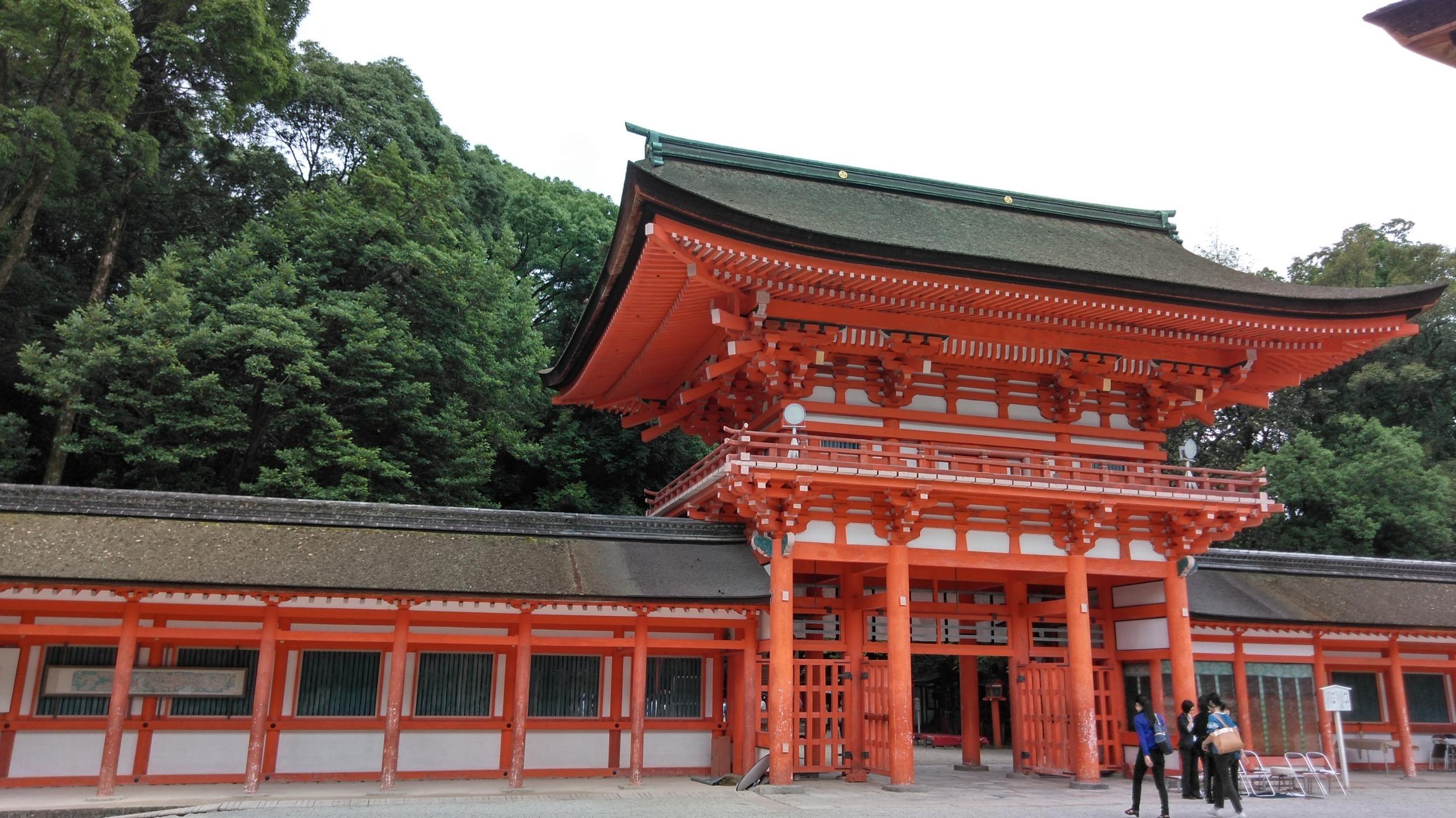 雨の京都 下鴨神社